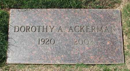 ACKERMAN, DOROTHY A - Polk County, Oregon | DOROTHY A ACKERMAN - Oregon Gravestone Photos