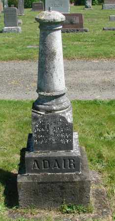 ADAIR, ANNA - Polk County, Oregon   ANNA ADAIR - Oregon Gravestone Photos