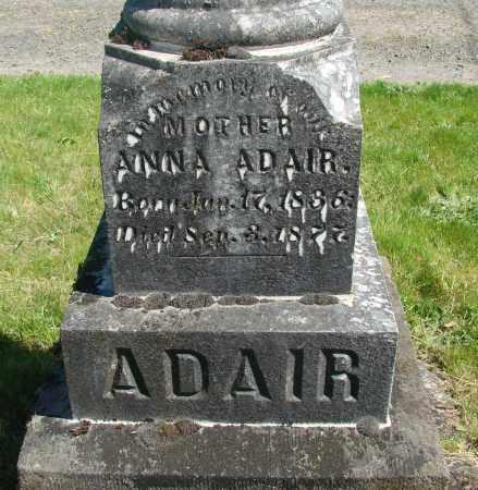ADAIR, ANNA - Polk County, Oregon | ANNA ADAIR - Oregon Gravestone Photos