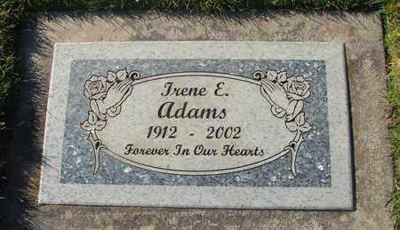 ADAMS, IRENE E - Polk County, Oregon | IRENE E ADAMS - Oregon Gravestone Photos