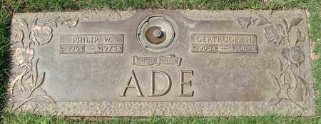 ADE, GERTRUDE H - Polk County, Oregon | GERTRUDE H ADE - Oregon Gravestone Photos
