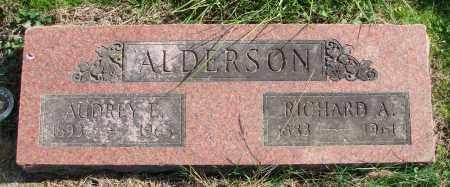 ALDERSON, RICHARD A - Polk County, Oregon | RICHARD A ALDERSON - Oregon Gravestone Photos