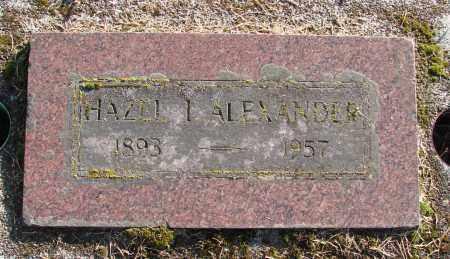 ALEXANDER, HAZEL I - Polk County, Oregon   HAZEL I ALEXANDER - Oregon Gravestone Photos