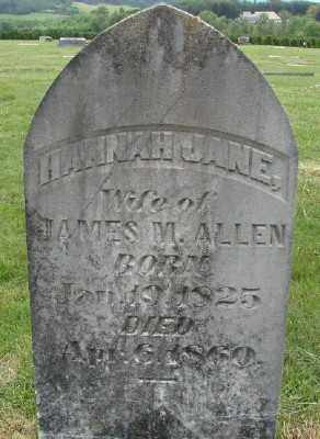 ALLEN, HANNAH JANE - Polk County, Oregon | HANNAH JANE ALLEN - Oregon Gravestone Photos