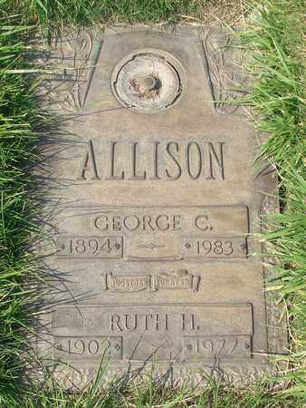 ALLISON, GEORGE C - Polk County, Oregon | GEORGE C ALLISON - Oregon Gravestone Photos