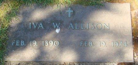 ALLISON, IVA W - Polk County, Oregon | IVA W ALLISON - Oregon Gravestone Photos