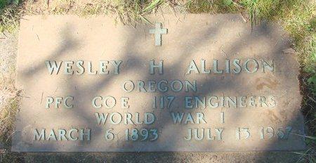 ALLISON, WESLEY HOMER - Polk County, Oregon | WESLEY HOMER ALLISON - Oregon Gravestone Photos