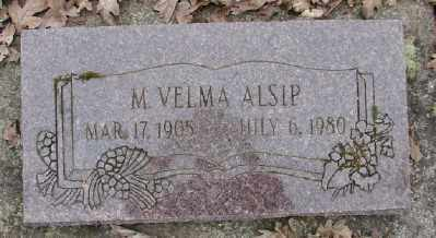 ALSIP, M VELMA - Polk County, Oregon | M VELMA ALSIP - Oregon Gravestone Photos