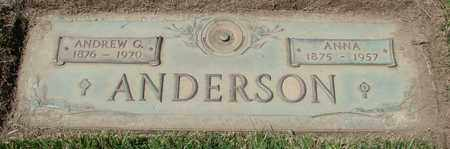 ANDERSON, ANNA - Polk County, Oregon | ANNA ANDERSON - Oregon Gravestone Photos