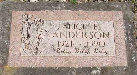 ANDERSON, ALICE E - Polk County, Oregon | ALICE E ANDERSON - Oregon Gravestone Photos