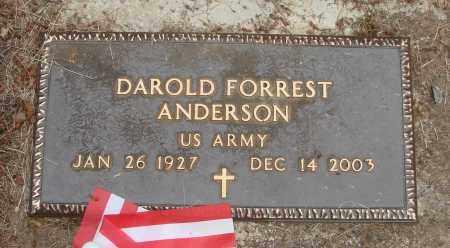 ANDERSON, DAROLD FORREST - Polk County, Oregon | DAROLD FORREST ANDERSON - Oregon Gravestone Photos