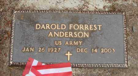 ANDERSON (SERV), DAROLD FORREST - Polk County, Oregon | DAROLD FORREST ANDERSON (SERV) - Oregon Gravestone Photos