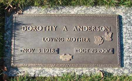 ANDERSON, DOROTHY A - Polk County, Oregon | DOROTHY A ANDERSON - Oregon Gravestone Photos
