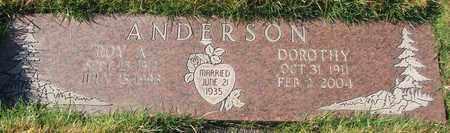 ANDERSON, ROY ANDREW - Polk County, Oregon | ROY ANDREW ANDERSON - Oregon Gravestone Photos