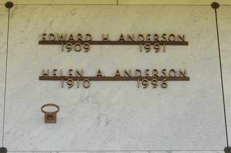 ANDERSON, EDWARD HOUSTON - Polk County, Oregon | EDWARD HOUSTON ANDERSON - Oregon Gravestone Photos