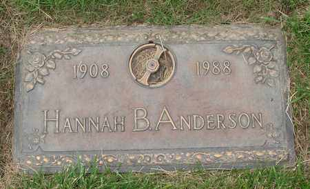 ANDERSON, HANNAH BERTINA - Polk County, Oregon | HANNAH BERTINA ANDERSON - Oregon Gravestone Photos