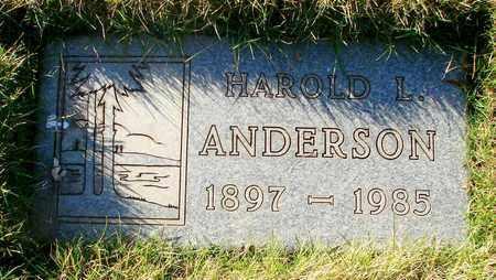 ANDERSON, HAROLD L - Polk County, Oregon | HAROLD L ANDERSON - Oregon Gravestone Photos