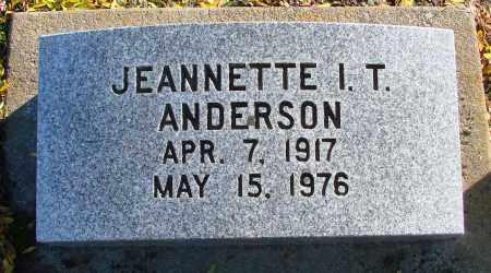 ANDERSON, JEANNETTE I T - Polk County, Oregon | JEANNETTE I T ANDERSON - Oregon Gravestone Photos