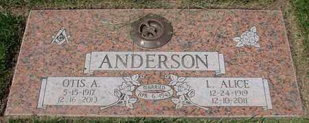 ANDERSON, OTIS ARNOLD - Polk County, Oregon | OTIS ARNOLD ANDERSON - Oregon Gravestone Photos