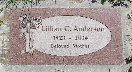 ANDERSON, LILLIAN C - Polk County, Oregon   LILLIAN C ANDERSON - Oregon Gravestone Photos