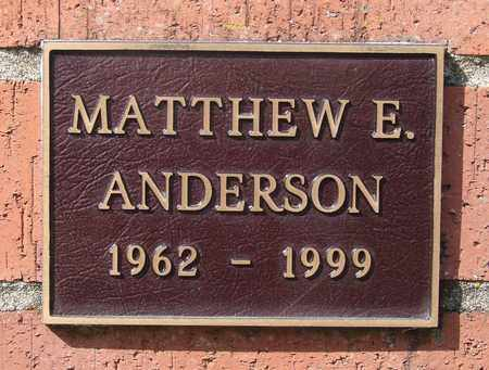 ANDERSON, MATTHEW E - Polk County, Oregon | MATTHEW E ANDERSON - Oregon Gravestone Photos