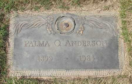 ANDERSON, PALMA O - Polk County, Oregon | PALMA O ANDERSON - Oregon Gravestone Photos