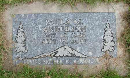 ANDERSON, PAULA M - Polk County, Oregon   PAULA M ANDERSON - Oregon Gravestone Photos