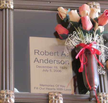 ANDERSON, ROBERT A - Polk County, Oregon | ROBERT A ANDERSON - Oregon Gravestone Photos