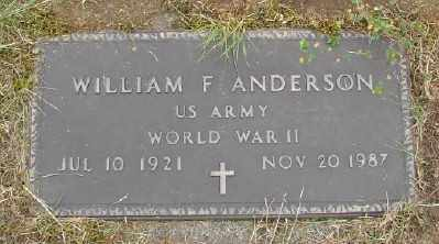 ANDERSON, WILLIAM F - Polk County, Oregon | WILLIAM F ANDERSON - Oregon Gravestone Photos
