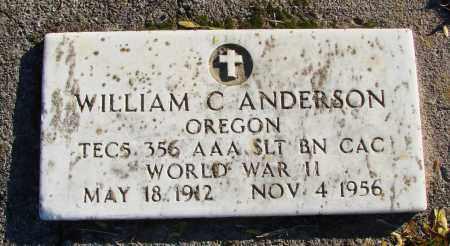 ANDERSON, WILLIAM C - Polk County, Oregon | WILLIAM C ANDERSON - Oregon Gravestone Photos