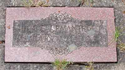 ARMANTROUT, HILA E - Polk County, Oregon | HILA E ARMANTROUT - Oregon Gravestone Photos