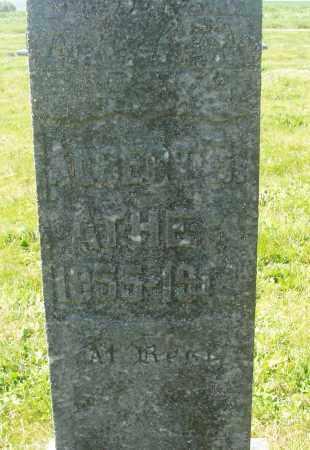 ATHEY, ALBERT B - Polk County, Oregon | ALBERT B ATHEY - Oregon Gravestone Photos