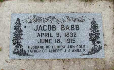 BABB, JACOB - Polk County, Oregon | JACOB BABB - Oregon Gravestone Photos