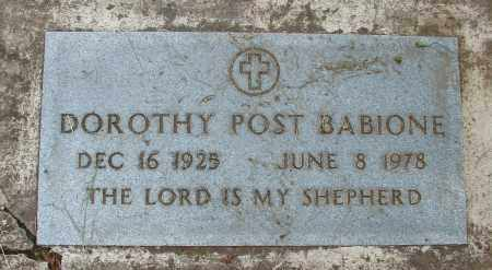 BABIONE, DOROTHY - Polk County, Oregon | DOROTHY BABIONE - Oregon Gravestone Photos