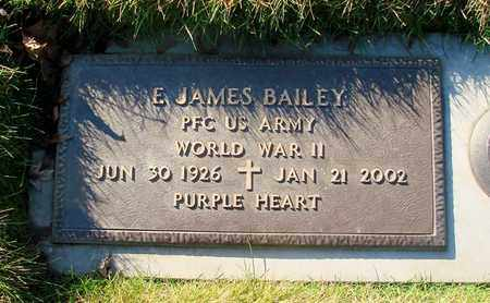 BAILEY (WWII), E JAMES - Polk County, Oregon | E JAMES BAILEY (WWII) - Oregon Gravestone Photos