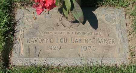 BAKER, LAVONNE LOU - Polk County, Oregon | LAVONNE LOU BAKER - Oregon Gravestone Photos