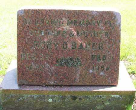 BAKER, RUBY D - Polk County, Oregon   RUBY D BAKER - Oregon Gravestone Photos