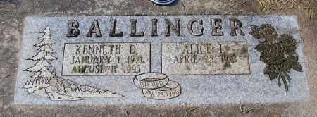 BALLINGER, ALICE L - Polk County, Oregon | ALICE L BALLINGER - Oregon Gravestone Photos