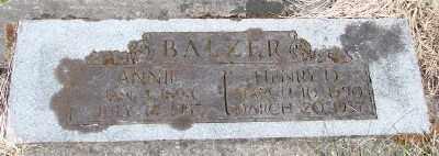 BALZER, ANNIE - Polk County, Oregon | ANNIE BALZER - Oregon Gravestone Photos
