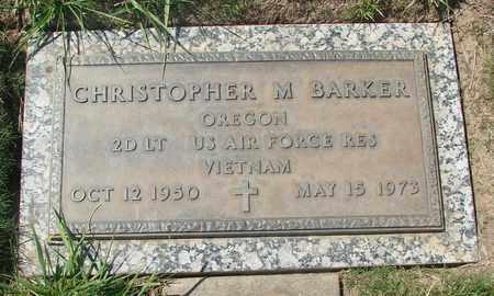 BARKER, CHRISTOPHER M - Polk County, Oregon | CHRISTOPHER M BARKER - Oregon Gravestone Photos