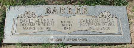 BARKER, DAVID MILES A - Polk County, Oregon | DAVID MILES A BARKER - Oregon Gravestone Photos
