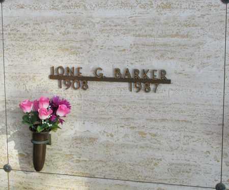 BARKER, IONE G - Polk County, Oregon | IONE G BARKER - Oregon Gravestone Photos