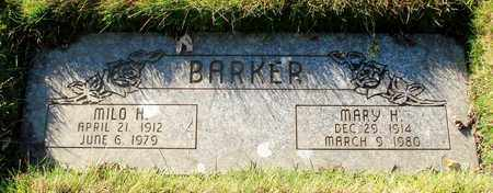 BARKER, MARY H - Polk County, Oregon | MARY H BARKER - Oregon Gravestone Photos