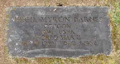 BARNES, VIRGIL MYRON - Polk County, Oregon   VIRGIL MYRON BARNES - Oregon Gravestone Photos