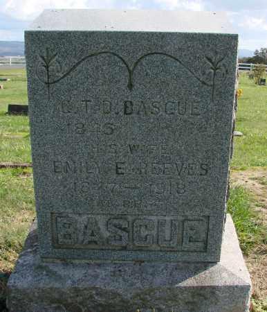 REEVES BASCUE, EMILY E - Polk County, Oregon | EMILY E REEVES BASCUE - Oregon Gravestone Photos