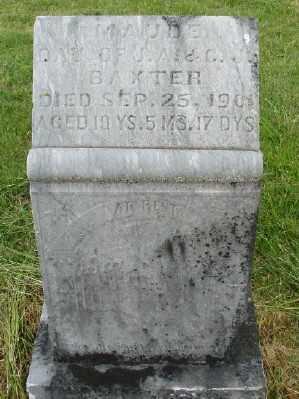 BAXTER, MAUDE - Polk County, Oregon | MAUDE BAXTER - Oregon Gravestone Photos