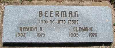 BEERMAN, RAYMA B - Polk County, Oregon | RAYMA B BEERMAN - Oregon Gravestone Photos