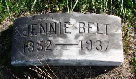 BELT, JENNIE - Polk County, Oregon   JENNIE BELT - Oregon Gravestone Photos