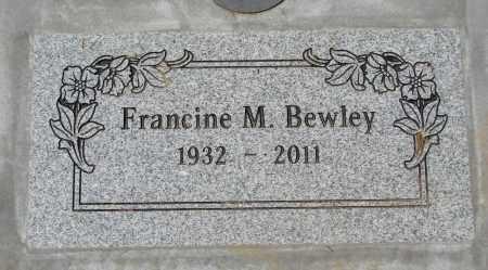 BEWLEY, FRANCINE MAE - Polk County, Oregon   FRANCINE MAE BEWLEY - Oregon Gravestone Photos