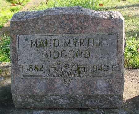 BIDGOOD, MAUD MYRTLE - Polk County, Oregon   MAUD MYRTLE BIDGOOD - Oregon Gravestone Photos